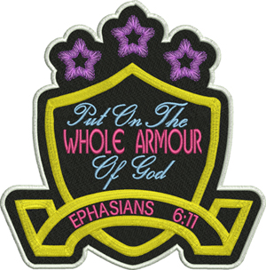 Armour of God-Armour of God, God, Ephesians, bible, Christian, machine embroidery