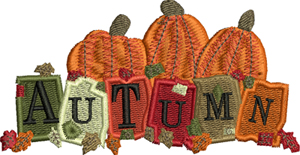 Autumn pumpkins-Autumn, pumpkins, Fall, seasons, machine embroidery