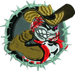 Barbwire western Baseball player