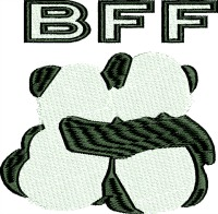 BFF Panda Bears-BFFPANDA BEARS BEST FRIENDS BEST FRIENDS PANDA BEARS MACHINE EMBROIDERY BEARS PANDA