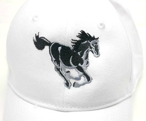 Black Stallion Embroidered Baseball Cap-HORSE BASEBALL CAP BLACK STALLION BASEBALL CAP EMBROIDERED CAPS