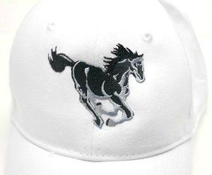 Black Stallion Embroidered Baseball Cap