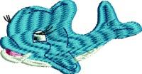 Baby Dolphin-Dolphin Baby dolphin dolphins machine embroidery sea life stitchedinfaith.com
