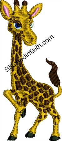 Baby Giraffe-Giraffe embroidery, baby embroidery, animal embroidery, machine embroidery, baby giraffe embroidery, baby embroidery, baby giraffe