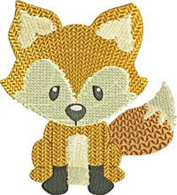 Baby fox-machine embroidery, fox, baby fox, animals,embroidery, foxes