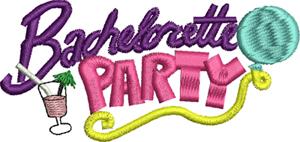 Bachelorette Party-Bachelorette, Party, Wedding, Bride, machine embroidery