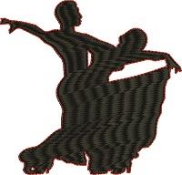 Ballroom Dancers Silhoutte-Ballroom dancers ballroom dancers machine embroidery