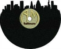 Baltimore Record-Baltimore record machine embroidery machine embroidery baltimore skyline 1930s record skyline record player stitchedinfaith.com Baltimore Maryland