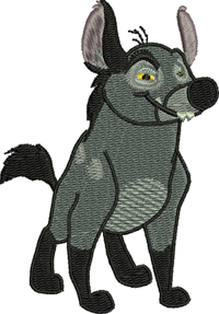 Banzi-Banzi, lion king, movie, characters, machine embroidery, embroidery