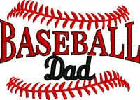 Baseball Dad-Baseball Dad baseball machine embroidery