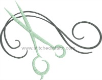 Beautician-Beautician scissors barber hair haircuts machine embroidery stitchedinfaith.com