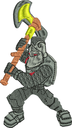 Black Knight-Black Knight, Knight, machine embroidery, fort nite, games, characters