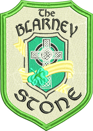 Blarney Stone-Blarney stone, Ireland, machine embroidery, Irish, kiss, good luck, Blarney