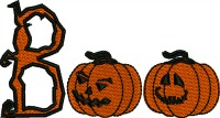 Boo Pumpkins-Pumpkins Boo pumpkins halloween machine embroidery stitchedinfaith.com holidays vegetables