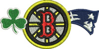 Boston Pride-Boston pride, machine embroidery, sports teams, boston sports,