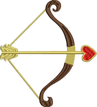 Bow and Arrow-bow and arrow, machine embroidery, bow embroidery, arrow embroidery, embroidery