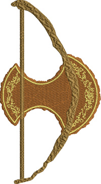 Bow of Legoas-Bow of Legoas, Bow, archery, sports, machine embroidery, embroidery, bow embroidery