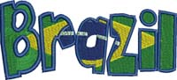 Brazil-Brazil, Country,machine embroidery,Brazilian,embroidery