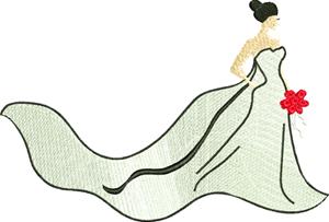 Bride-Bride, wedding, shower, bridal, machine embroidery, Wedding day