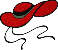 Red Brocade Hat-RED HAT RED BROCADE HAT MACHINE EMBROIDERY MACHINE EMBROIDERY RED HATS HAT STITCHEDINFAITH.COM