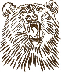 Brown Bear-Machine embroidery design brown bear bear embroidery bears stitched in faith.com.