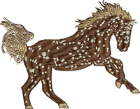 Brown Appaloosa Horse-Brown Appaloosa, Appaloosa horse, horse embroidery, machine embroidery, horse
