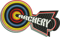 Bullseye Archery-Archery, Bulls eye, machine embroidery, arrow