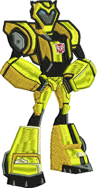Bumble Bee-Bumble Bee, transformers, toys, action figures, machine embroidery
