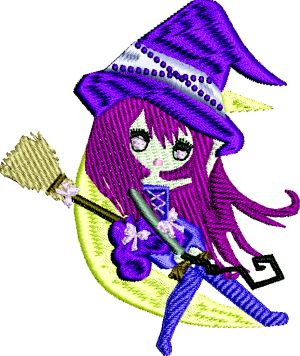 Chibi dolls machine embroidery designs