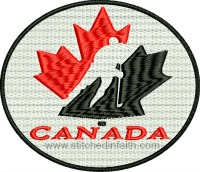 Canada Hockey-Canada hockey Canadian hockey machine embroidery embroidery stitchedinfaith.com