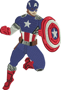 Captain America-Captain America, machine embroidery, super hero, embroidery