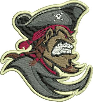 Captain Jack-Pirates, Captain, Jack, machine embroidery, Pirate