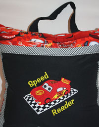 Reading Pillows Cars-Cars, reading pillows,embroidered pillows