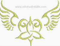 Celtic Angel-Angel, Celtic Angels, machine embroidery, angel embroidery, Easter embroidery, religious embroidery, Christian embroidery, Irish Angels, Angels