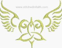 Celtic Angel-Angel, Celtic Angels, machine embroidery, angel embroidery, Easter embroidery, religious embroidery, Christian embroidery, Irish Angels, Angels