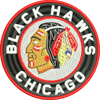 Chicago Black Hawks-Chicago Black Hawks, Chicago hockey, hockey, machine embroidery