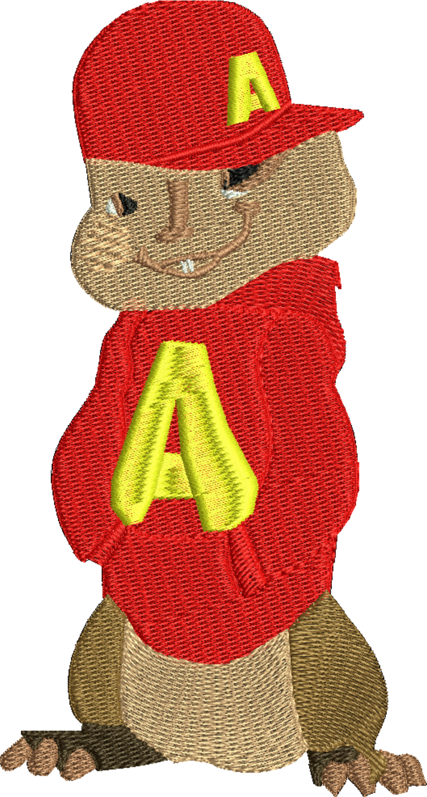 Chipmunk 2-Chipmunks cartoons Christmas chipmunks machine embroidery stitchedinfaith.com