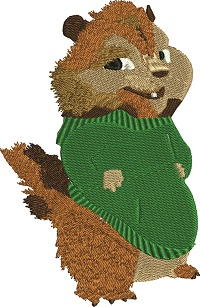 Chipmunk 1-Chipmunk animals machine embroidery