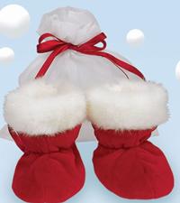 Santa baby booties-Booties, Baby, Santa, Christmas, shoes,