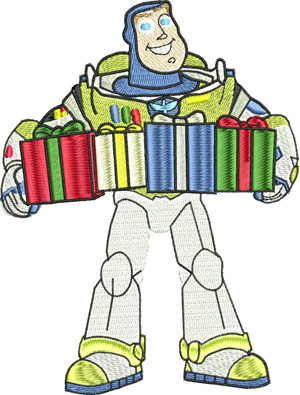Christmas presents Buzz-Christmas, Buzz,machine embroidery, holiday embroidery,kids,children