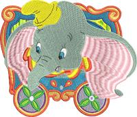Circus Dumbo-Dumbo, Circus, Circus dumbo, machine embroidery, elephant