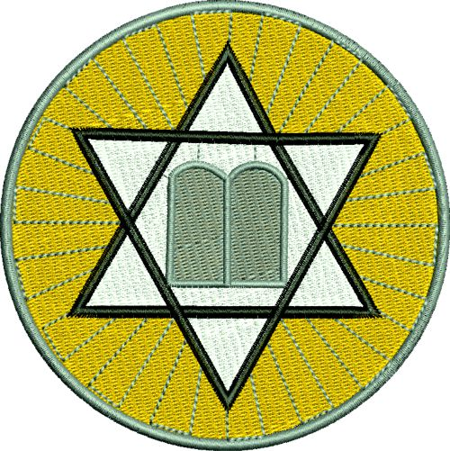 Jewish Star And 10 Commandments Machin
