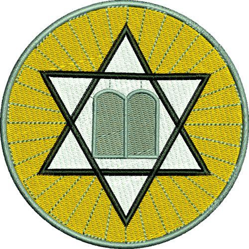 Jewish Star And 10 Commandments Machin