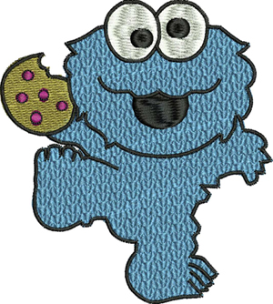 Cookie Monster-Cookie, Monster, machine embroidery, embroidery designs