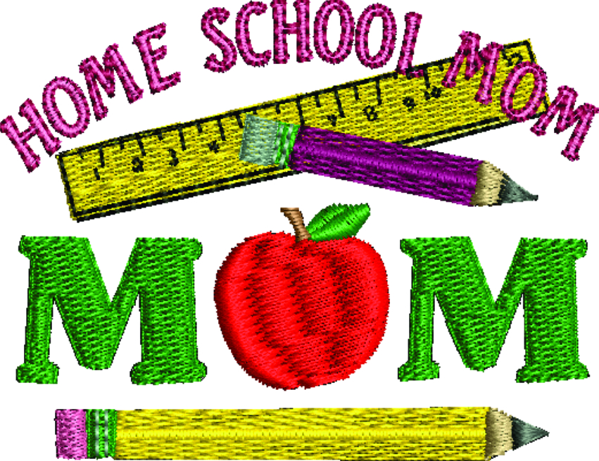 Home School Mom Machine Embroidery Design