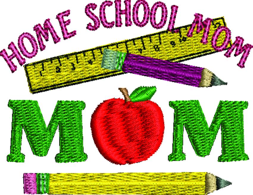 Home School Mom Machine Embroidery Design