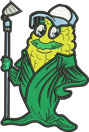 Corn Farmer-Corn, Farmer, machine embroidery