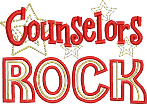 Counselors rock-Counselors, school, medical, teachers, machine embroidery