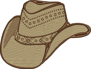 Cowboy hat-cowboy, machine embroidery, hat, western, rodeo, texas