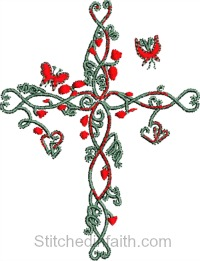 Cross My Heart-Cross, Christian, Easter, Christian Cross, Cross my heart, Religious designs, Religious embroidery, Cross embroidery